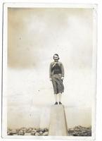 Elizabeth at top Cairnsmuir