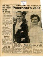 Newspaper cutting, Doris McNae's wedding
