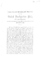 Narrative of the Rise and Progress of the United Presbyterian Body in Carsphairn As Read on the occasion of Laying Memorial Stone of New Church. 26th September 1892.