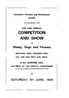 Carsphairn Show Day Programme Sat 5 June 1999