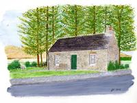 Painting of Heritage Centre, signed JS