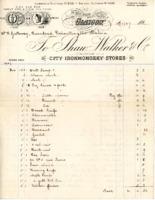 Bill from Stuart Walker & Co., Glasgow to Mr B Galloway