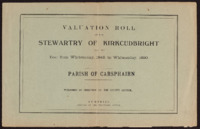 Valuation Rolls for Stewartry 1949-50