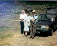 Trip to Woodhead Mine 1988; Mrs McNae, Mrs Raining (Kate Sykes?) & Willie Dickson