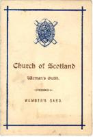 Church of Scotland Woman's Guild member's card