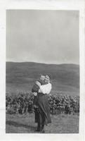 Miss Ida Buchanan with Willie Dickson as boy