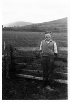 Bob Martin, farm fields behind