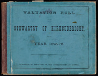 Valuation Rolls for the Stewartry 1875-76
