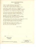 Poem to celebrate Billy and Nancy Fergusson's Ruby Wedding