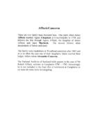 Affleck / Cameron Family Histories