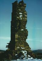 Mine chimney in snow