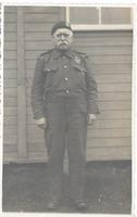 Gibson Stewart in uniform at Preaching Knowe