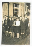 Carsphairn School Choir pupils after winning The Hornet Cup at Kirkcudbright. The choir achieved 177 points from 200.