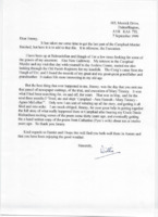 Letter from Willie McInnes to Jim Reid re: Carsphad Murder research
