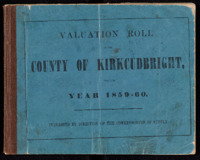 Valuation Rolls for the Stewartry 1859-60