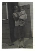 The Moor, Mary Martin & Jim outside her home